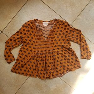 Anthropologie Blouse Top Size 2